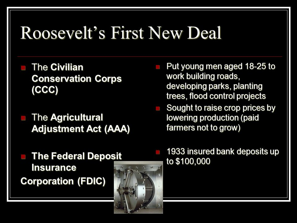 Roosevelt's First New Deal