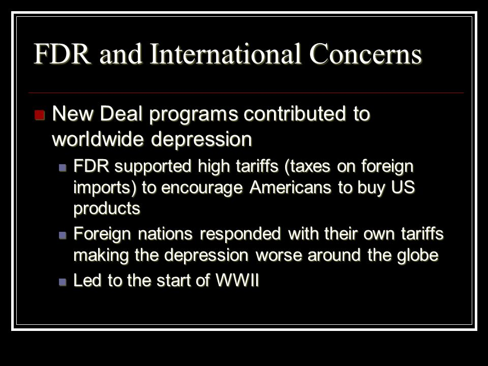 FDR and International Concerns