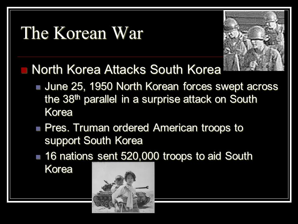 The Korean War North Korea Attacks South Korea