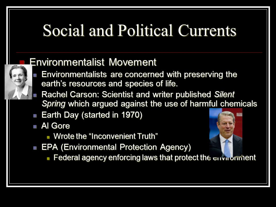 Social and Political Currents
