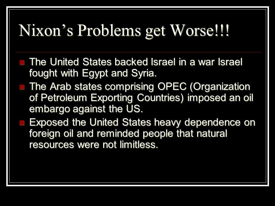 Nixon's Problems get Worse!!!