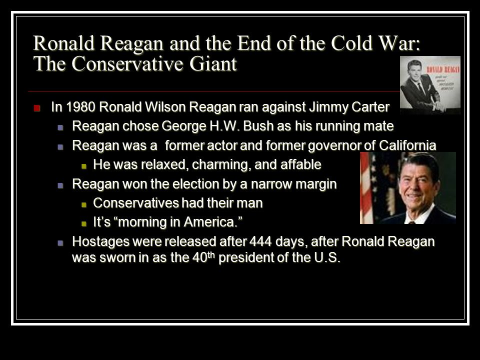 Ronald Reagan and the End of the Cold War: The Conservative Giant