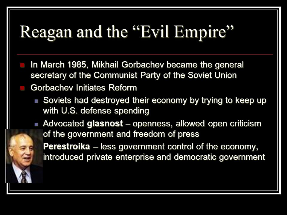 Reagan and the Evil Empire