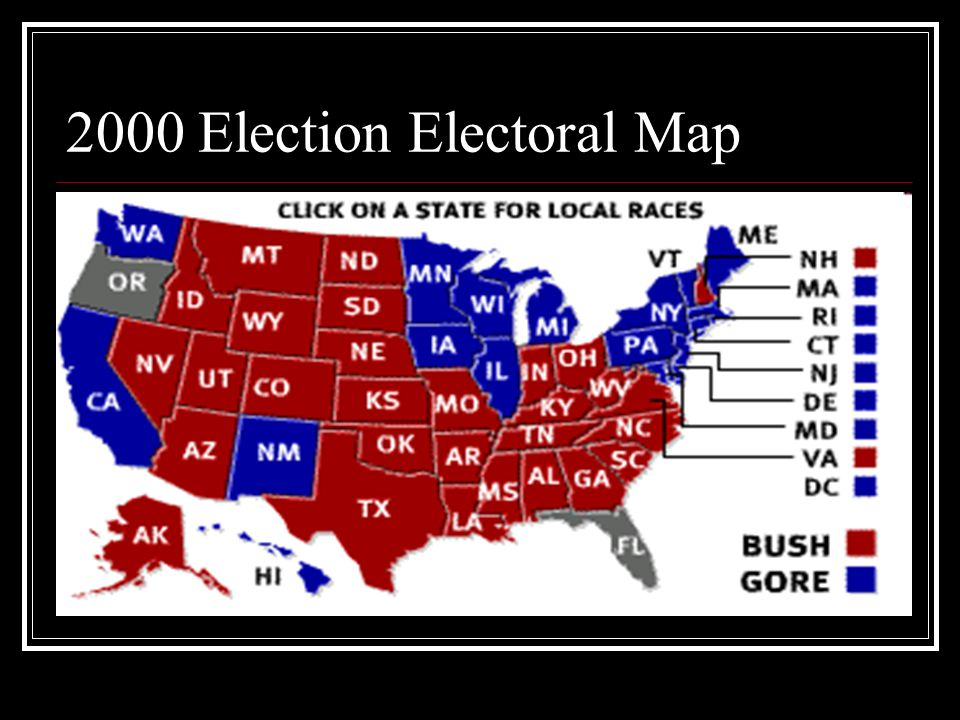 2000 Election Electoral Map