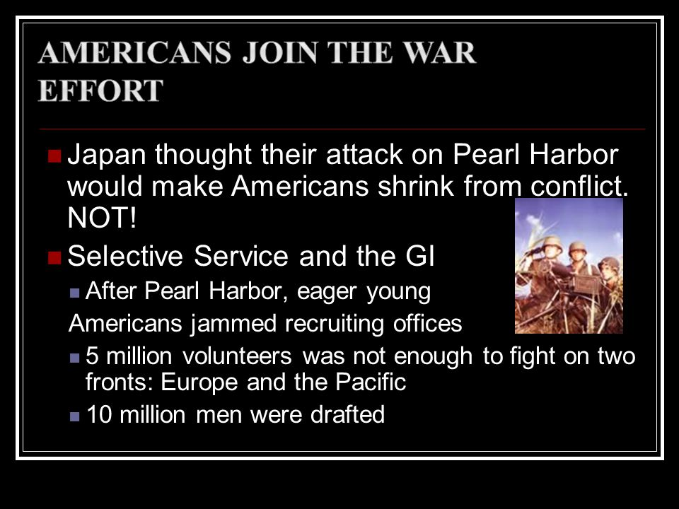 Americans Join the War Effort