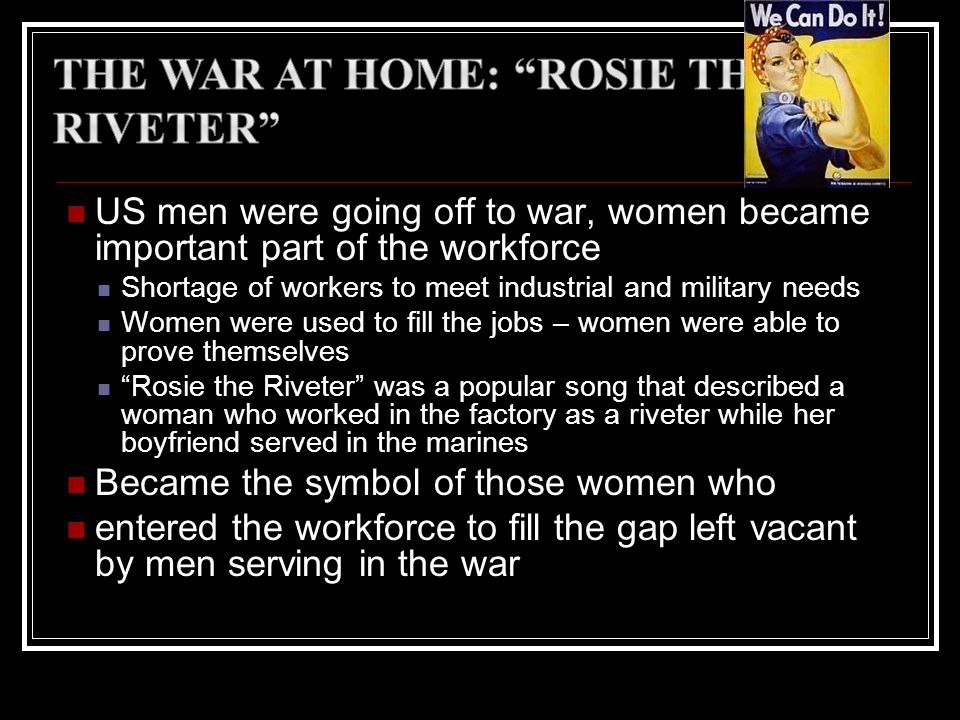 The War at Home: Rosie the Riveter