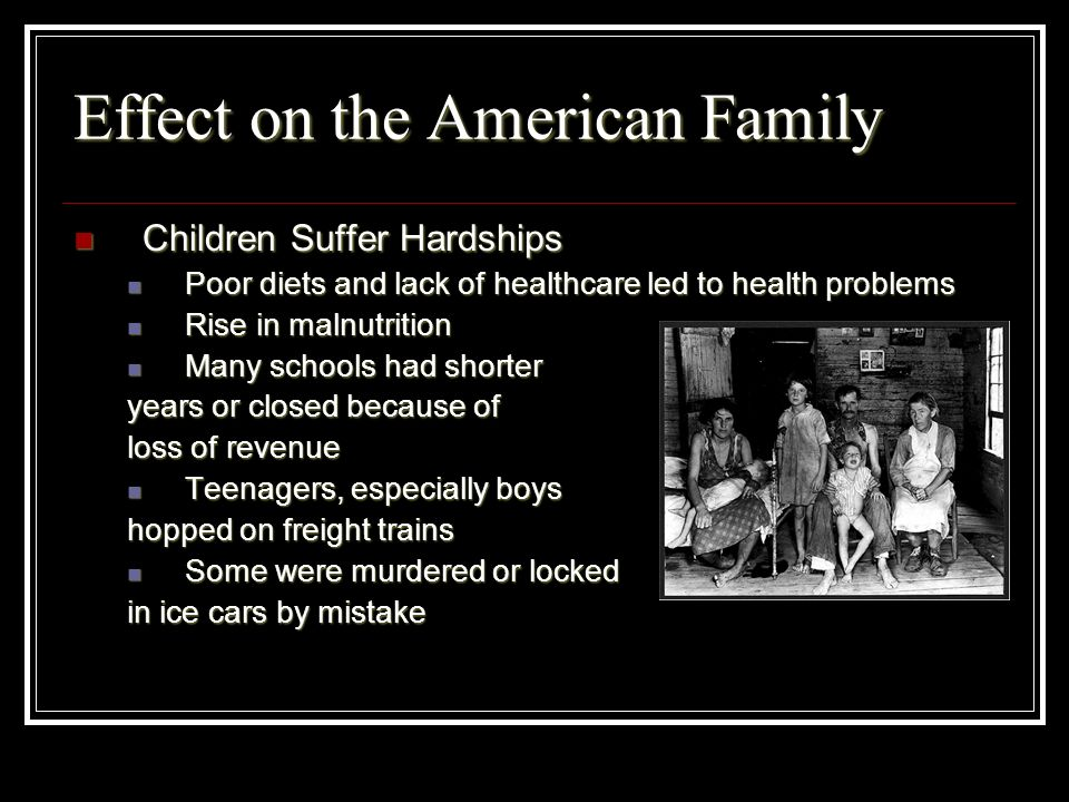 Effect on the American Family