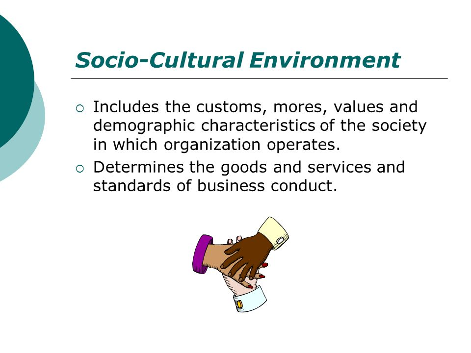 social cultural demographic and environmental forces The macro environment – six forces in the environment of  demographic forces in the macro  the socio-cultural forces link to factors that affect society.