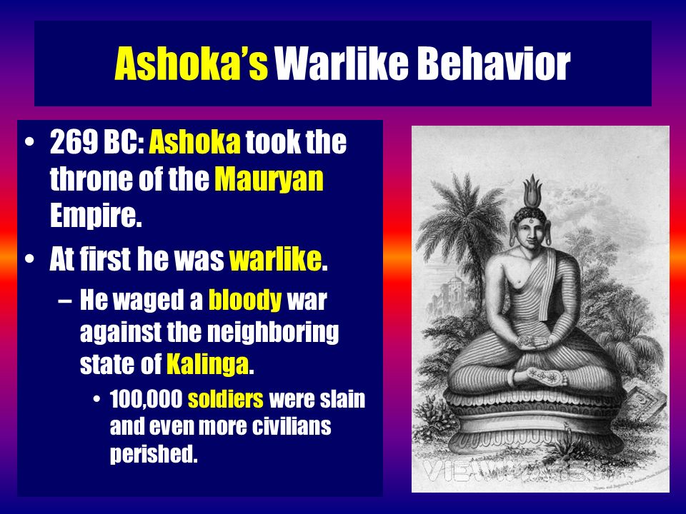 Ashoka's Warlike Behavior