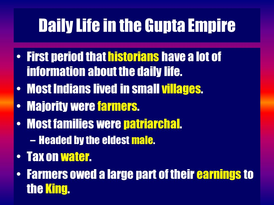 Daily Life in the Gupta Empire
