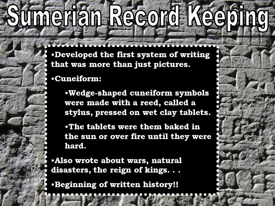 Sumerian Record Keeping
