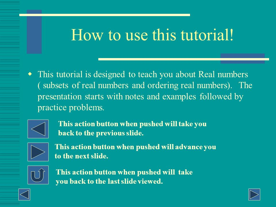 How to use this tutorial!