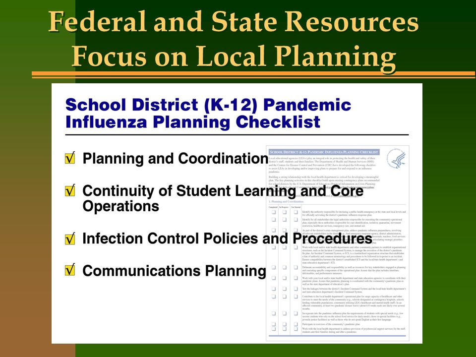 Federal and State Resources Focus on Local Planning