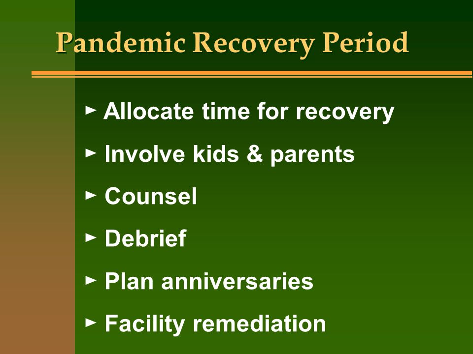 Pandemic Recovery Period