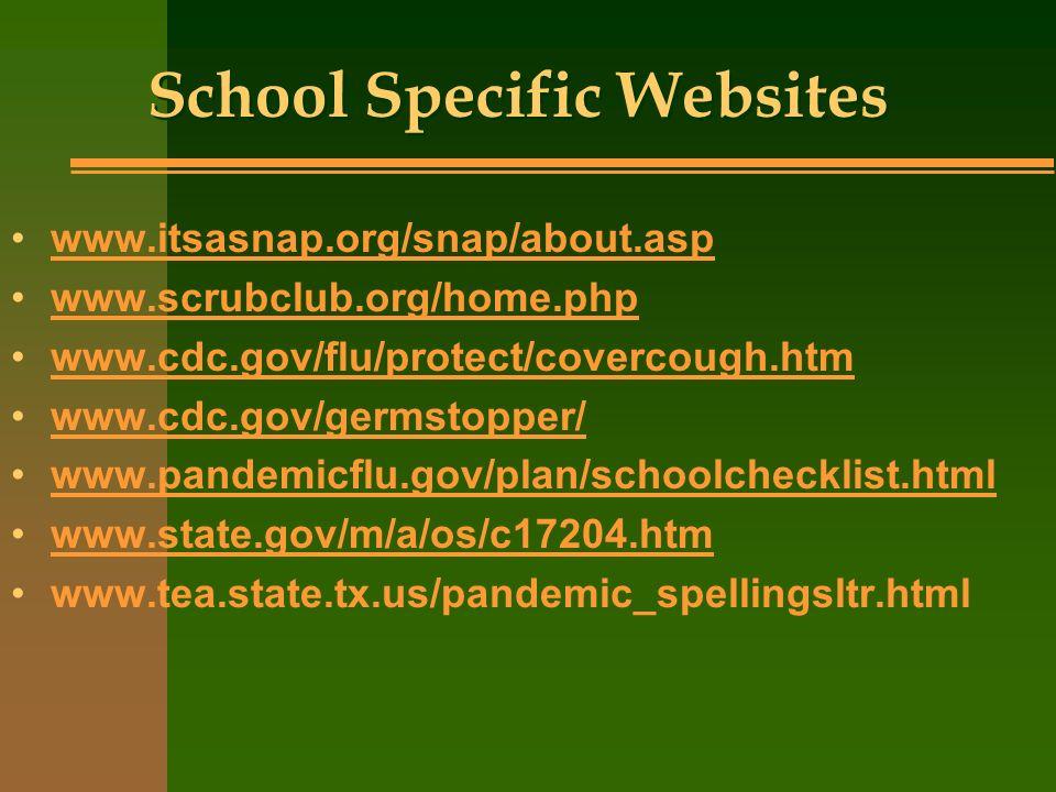 School Specific Websites