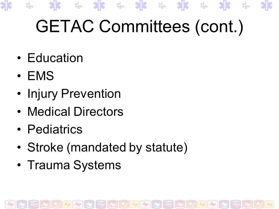 GETAC Committees (cont.)