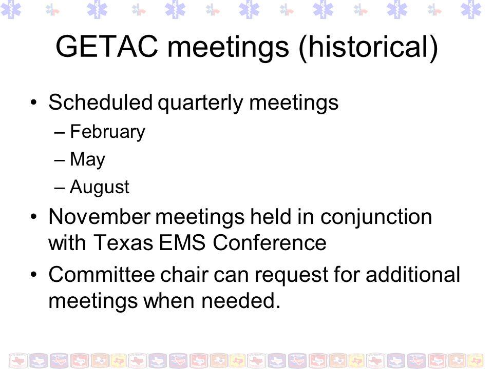 GETAC meetings (historical)