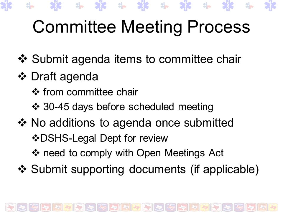 Committee Meeting Process