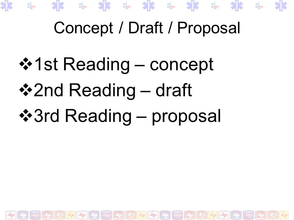 Concept / Draft / Proposal