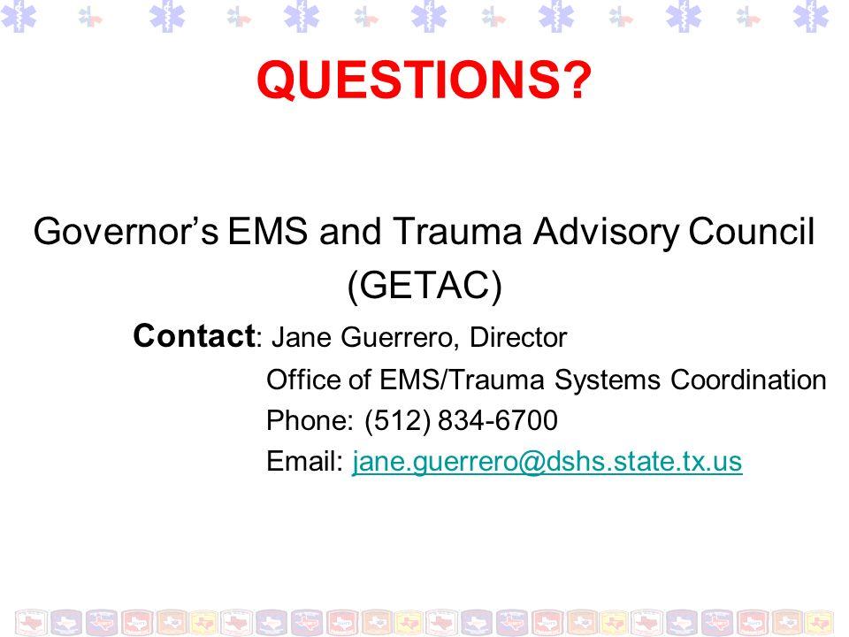 Governor's EMS and Trauma Advisory Council