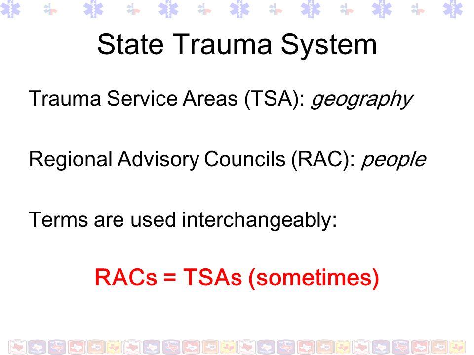 RACs = TSAs (sometimes)
