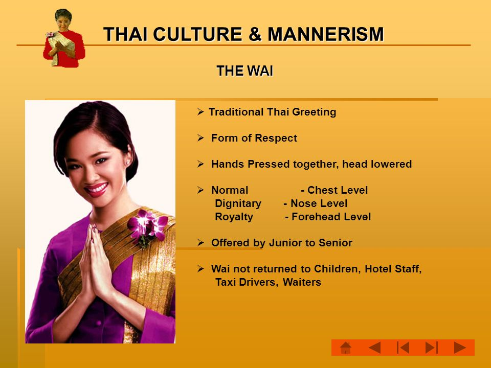Sawadee krap this is a module to give you an idea of the thai the wai traditional thai greeting form of respect m4hsunfo Choice Image