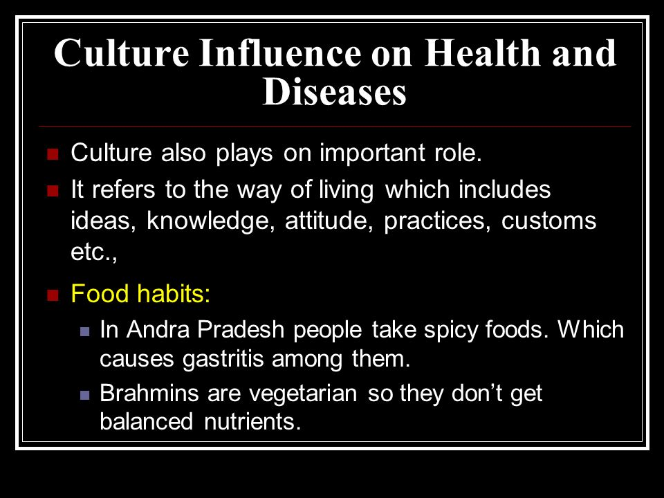 Cultural Influence On Food And Health