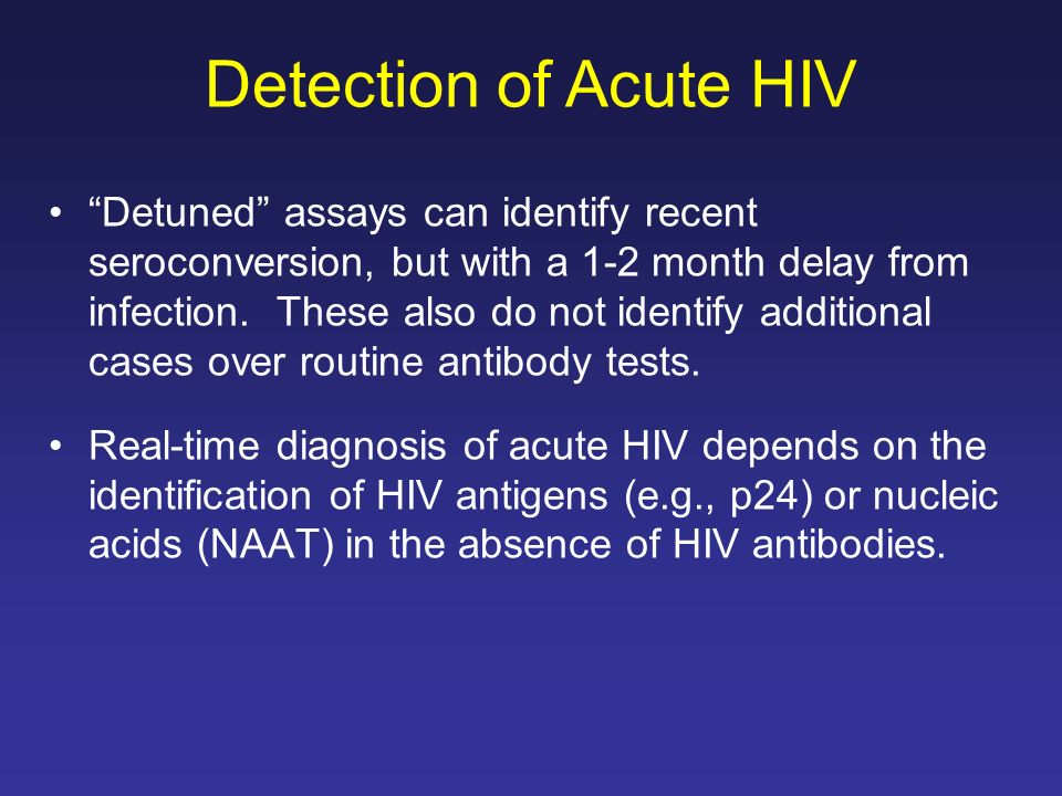 Detection of Acute HIV