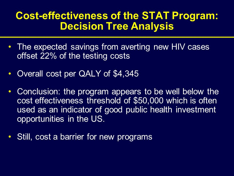 Cost-effectiveness of the STAT Program: Decision Tree Analysis