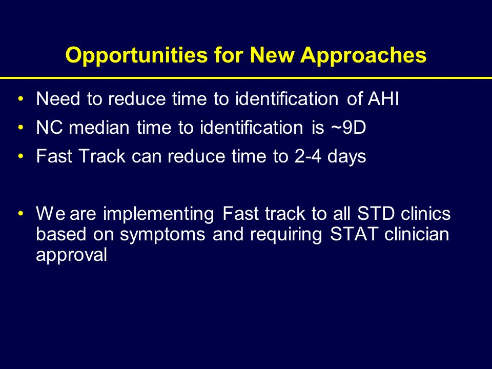 Opportunities for New Approaches