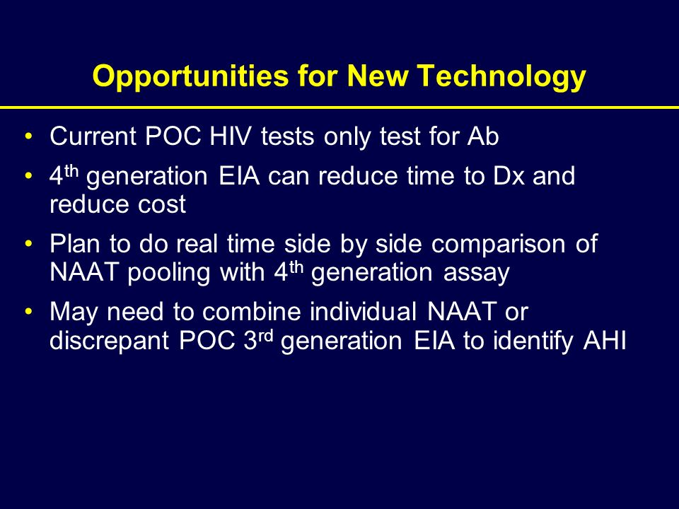 Opportunities for New Technology