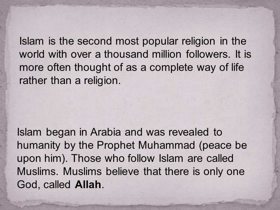 Islam Ppt Download - Second religion in the world
