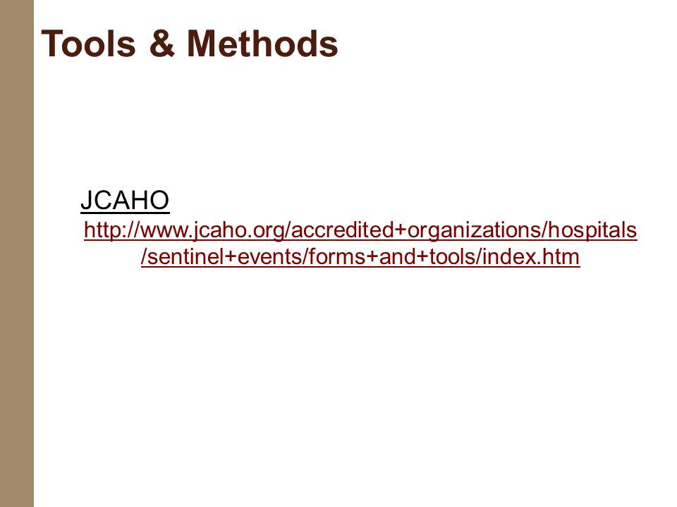Tools & Methods JCAHO.