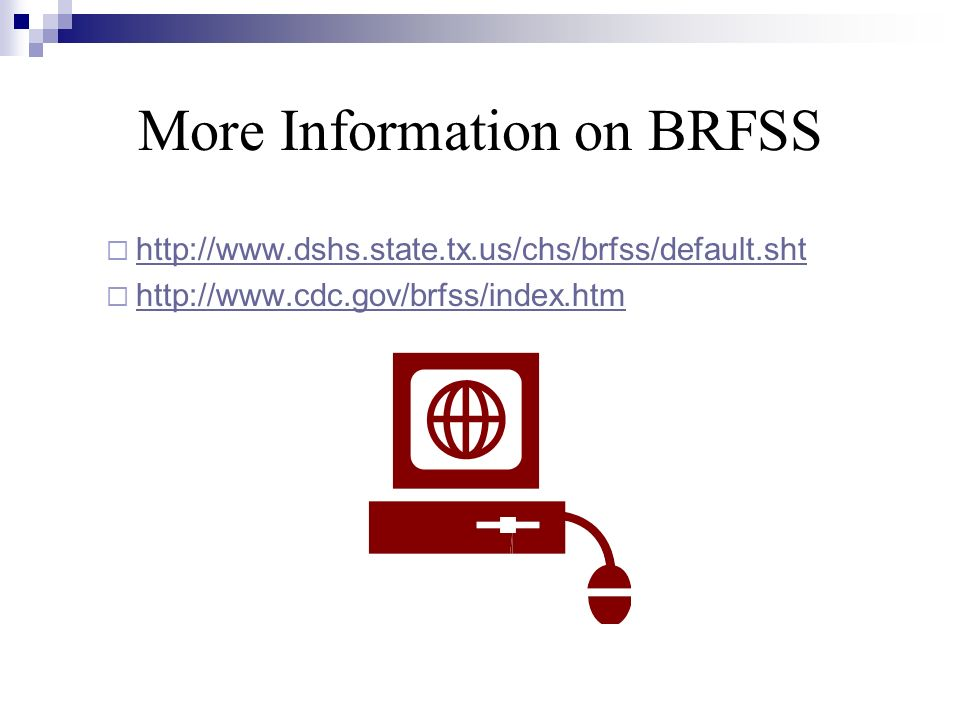 More Information on BRFSS