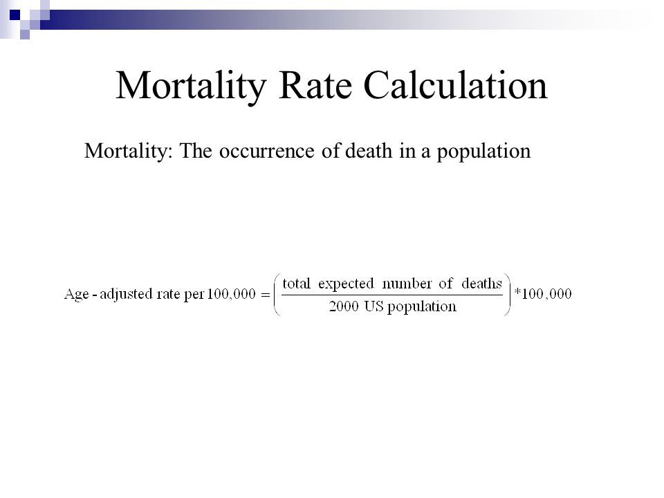 Mortality Rate Calculation