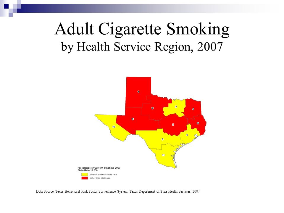 Adult Cigarette Smoking by Health Service Region, 2007