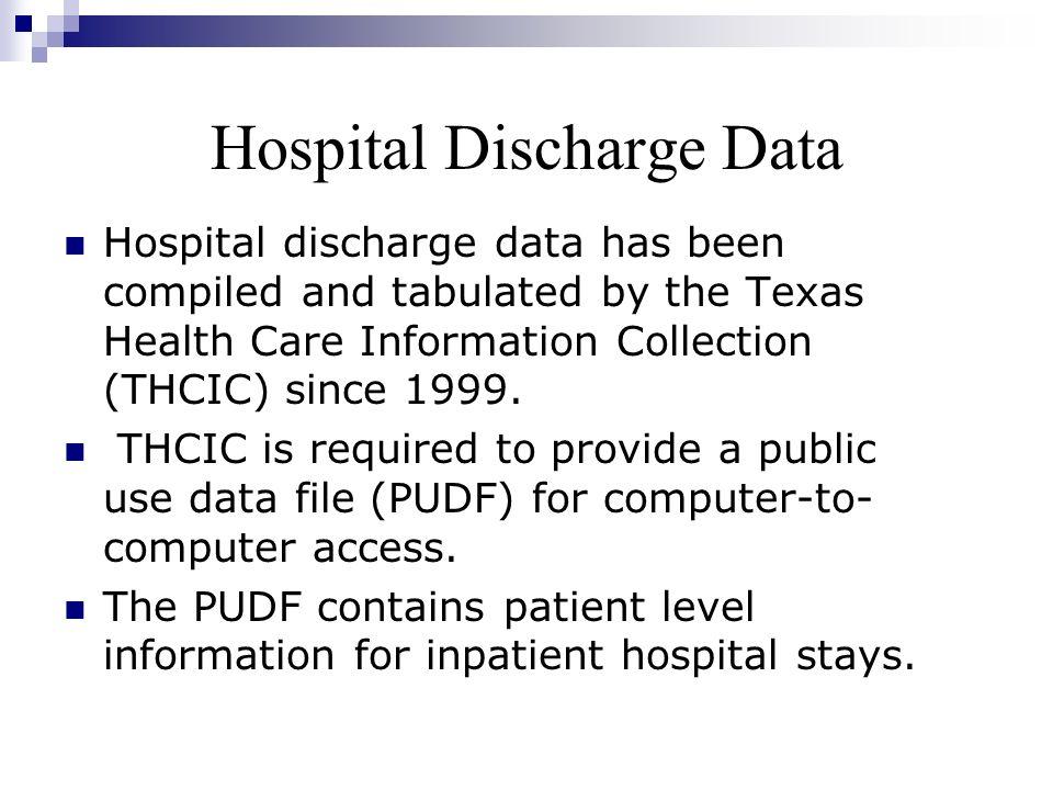 Hospital Discharge Data