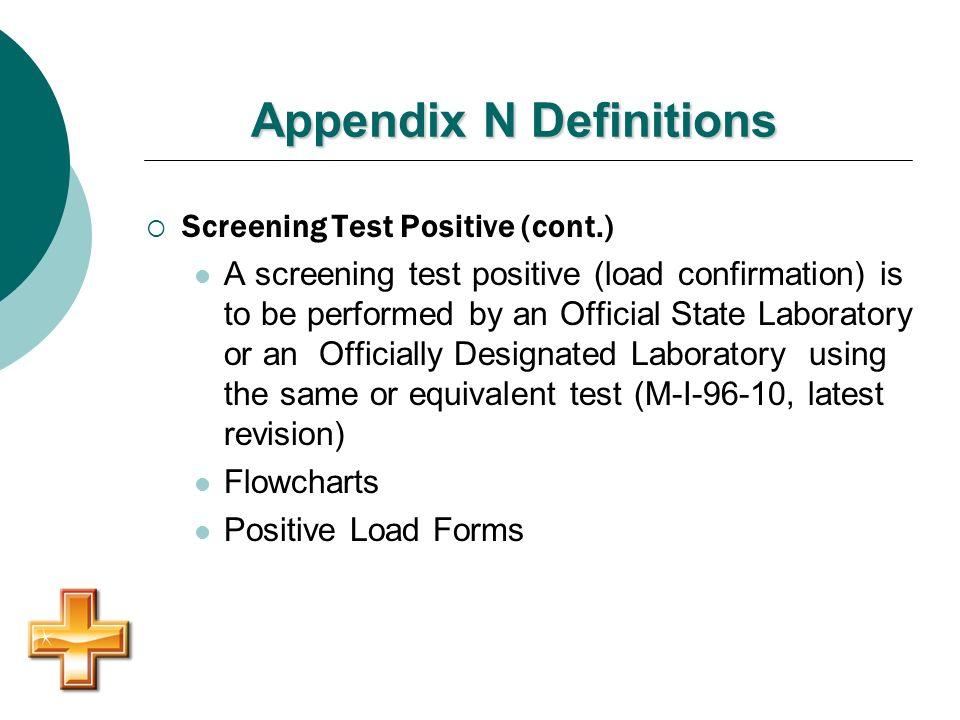 Appendix N Definitions