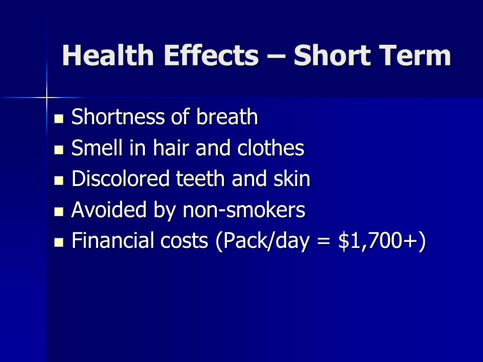 Health Effects – Short Term