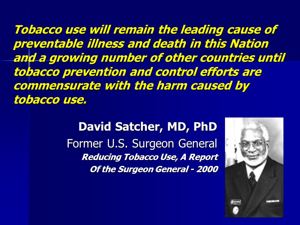 Former U.S. Surgeon General