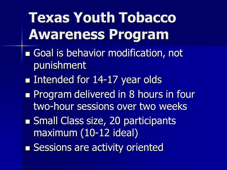 Texas Youth Tobacco Awareness Program