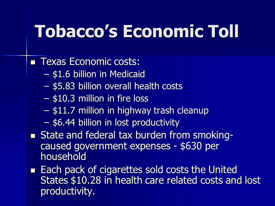 Tobacco's Economic Toll