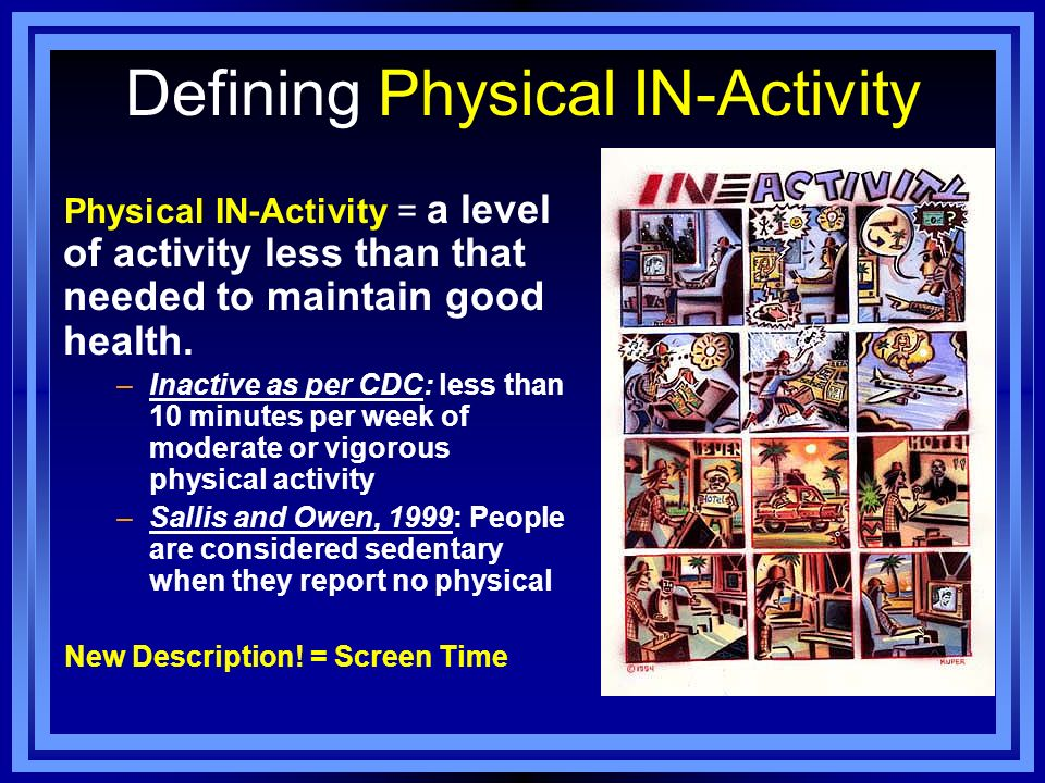 Defining Physical IN-Activity
