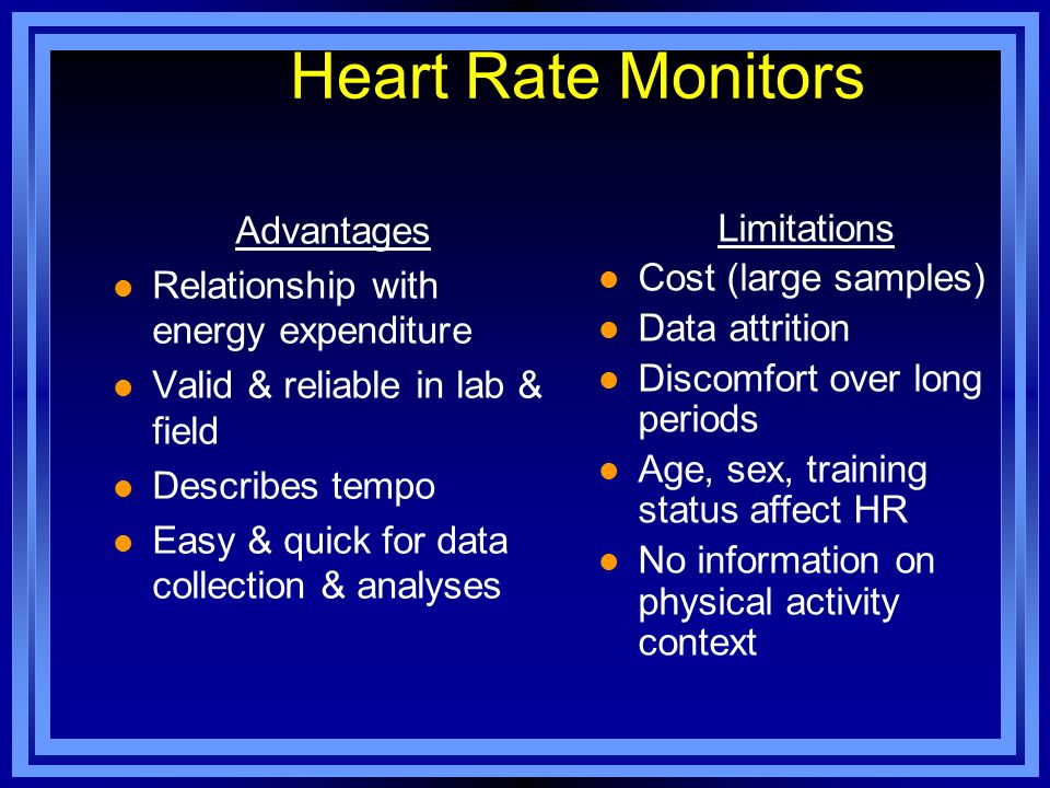 Heart Rate Monitors Advantages Limitations