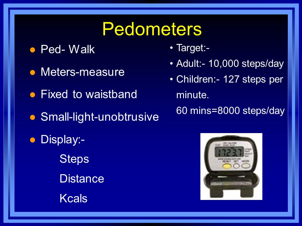 Pedometers Ped- Walk Meters-measure Fixed to waistband
