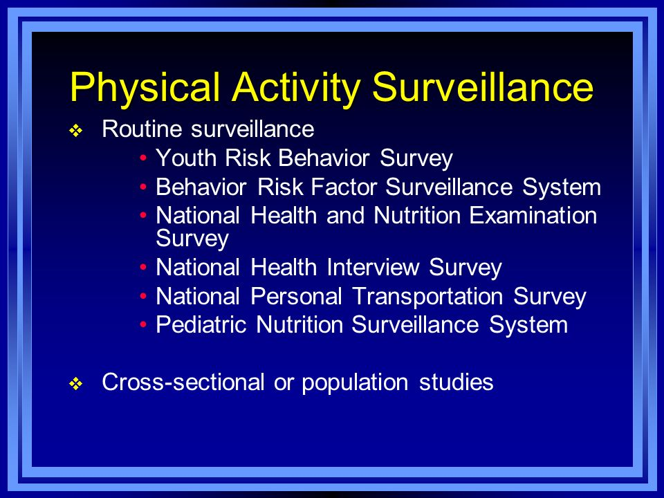 Physical Activity Surveillance