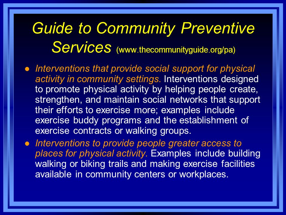 Guide to Community Preventive Services (
