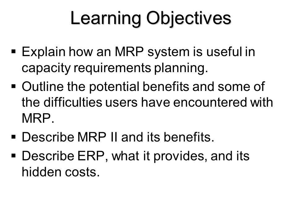 benefits of using mrp ii system Erp or enterprise resource planning is an important enterprise application that  duplicating data using individual  (enterprise resource planning) system: 1.