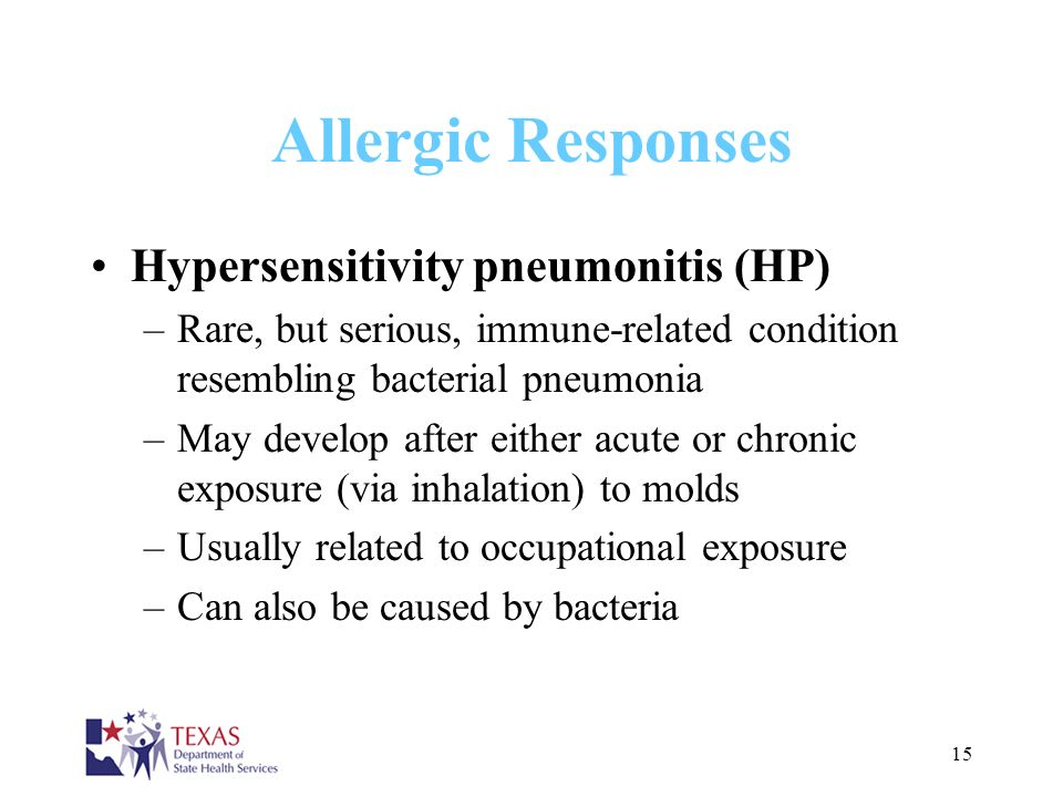 Allergic Responses Hypersensitivity pneumonitis (HP)