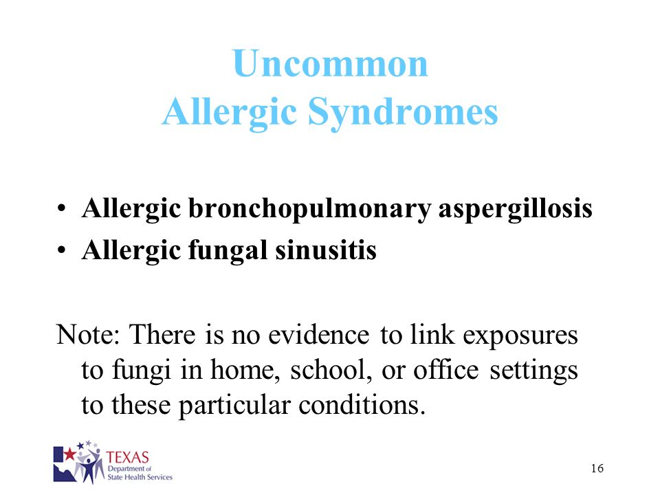 Uncommon Allergic Syndromes